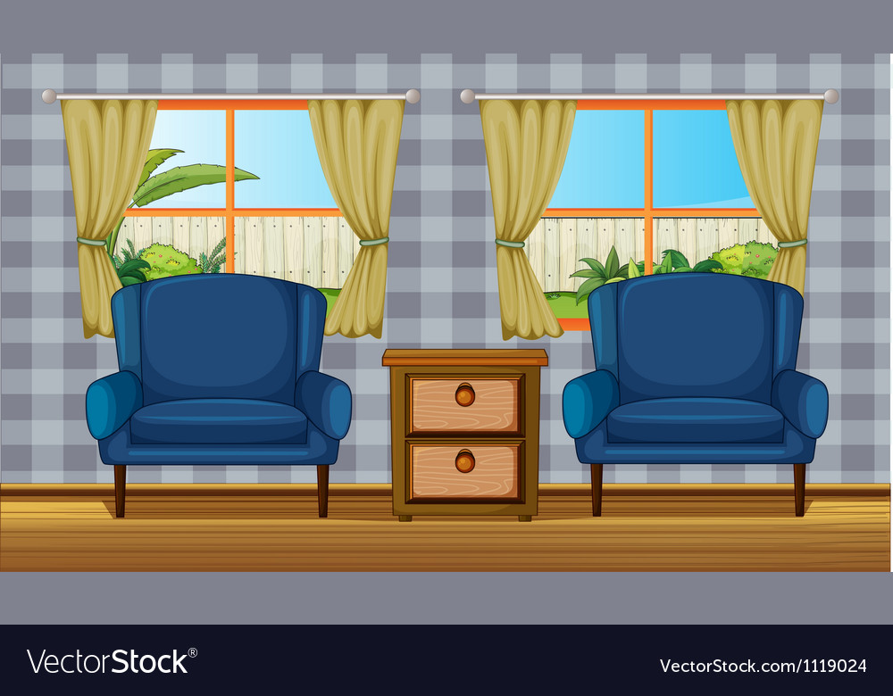 Room interior vector