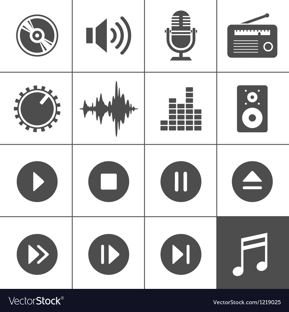 Music and sound icons  simplus series vector