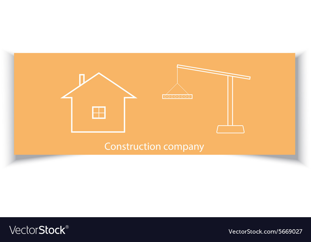 Business card for construction company