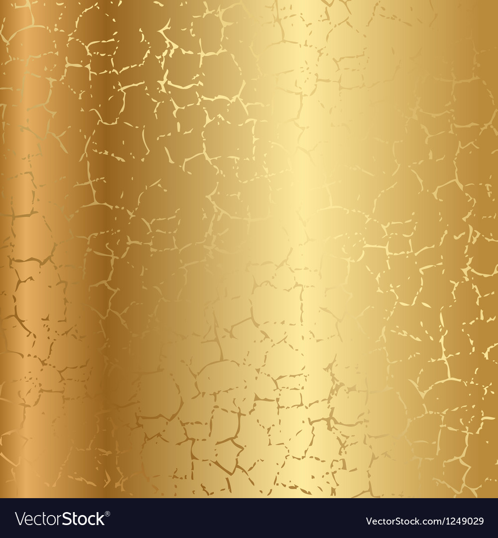 Gold texture with cracks vector