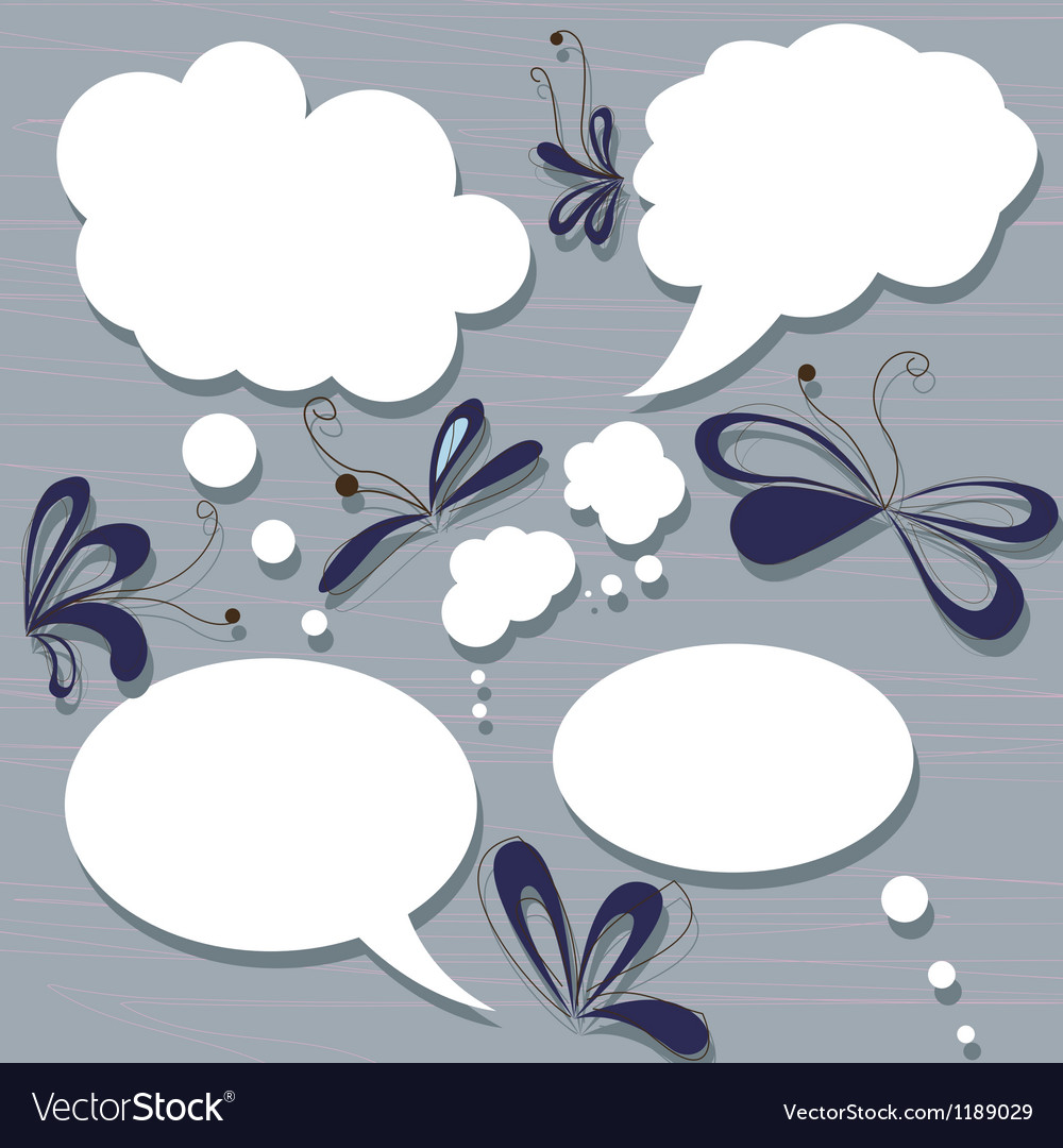 Set of speach bubbles vector