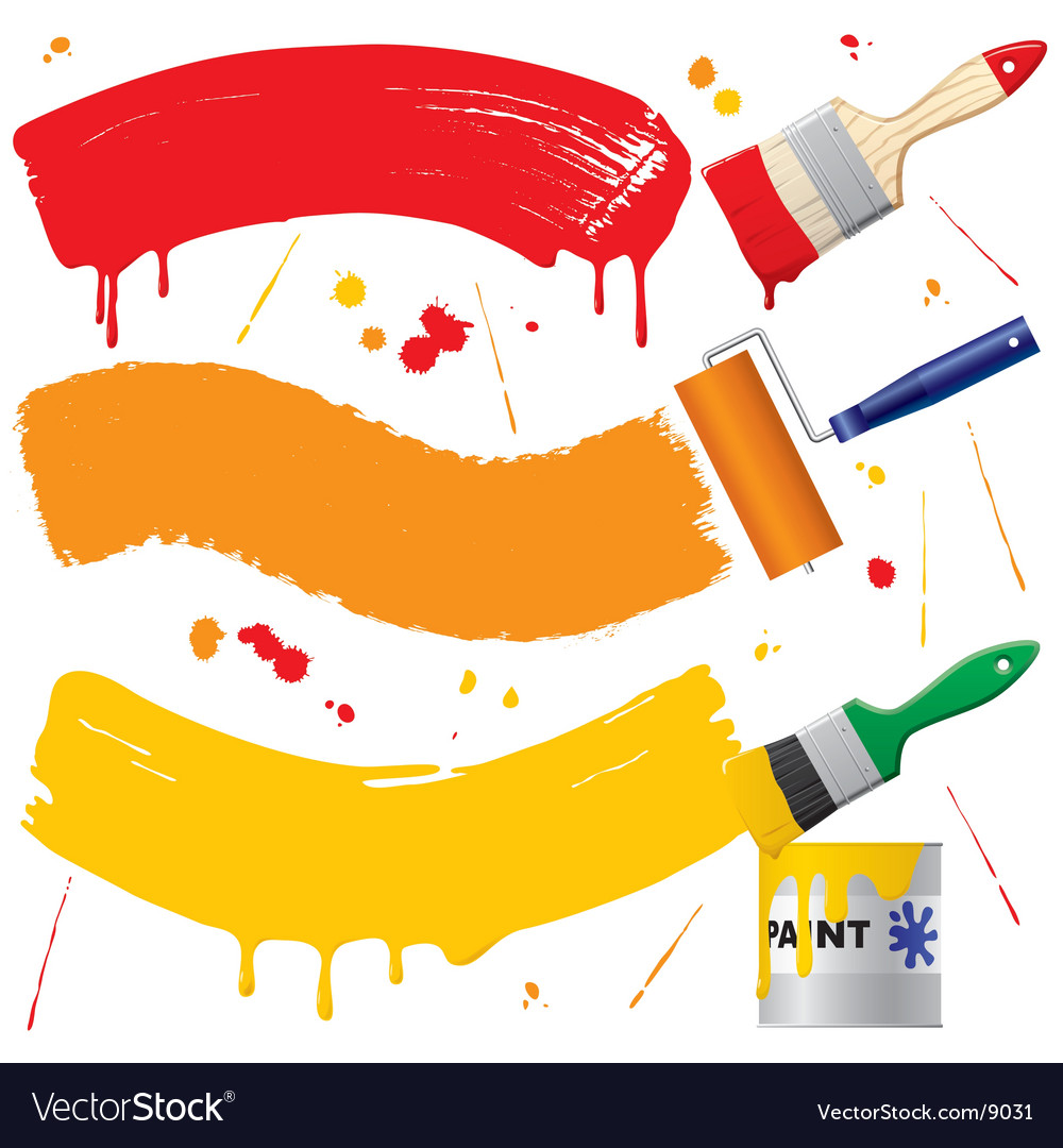 Painted banners vector