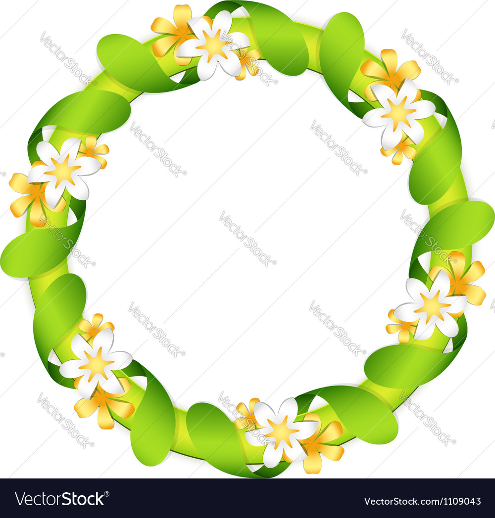 Floral garland isolated on white vector