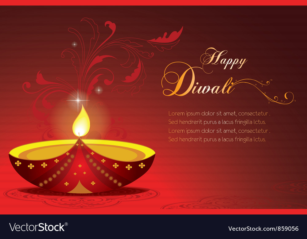 Free diwali greeting card vector