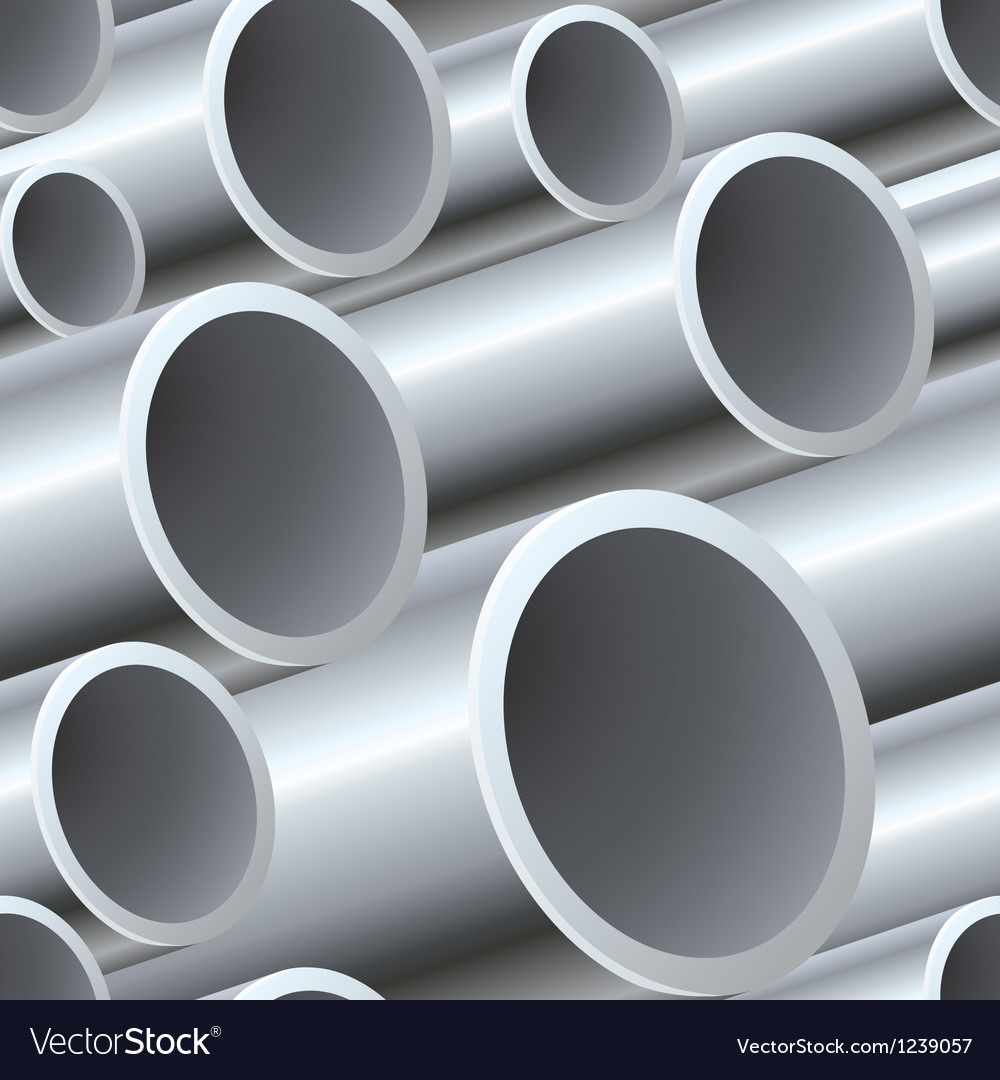 3d seamless steel pipes pattern vector
