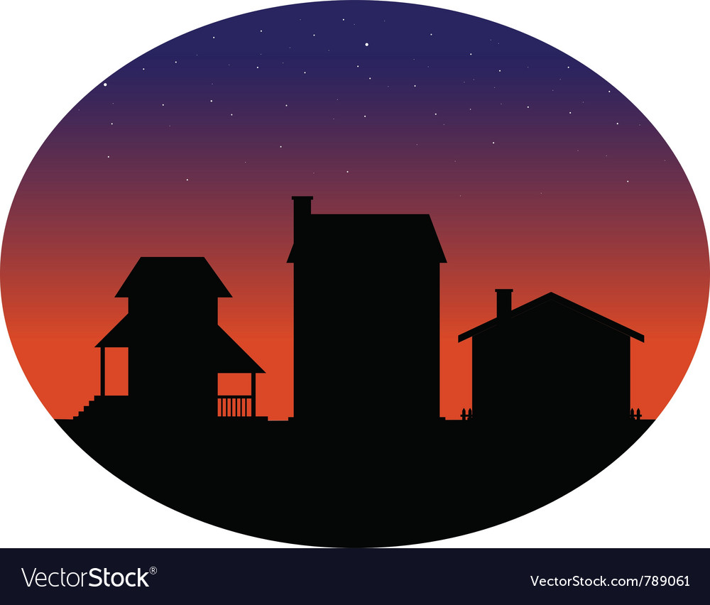 Houses silhouettes vector