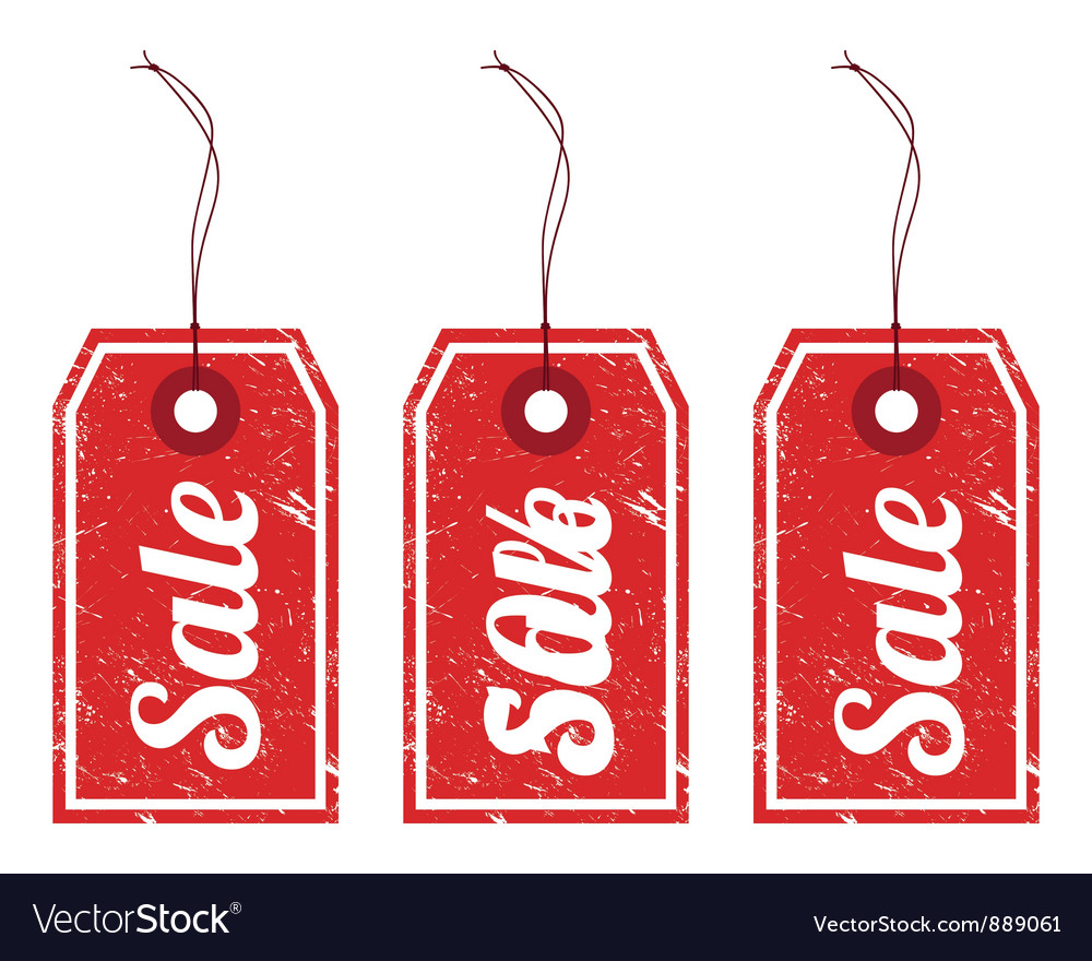 Sale vintage price tags vector