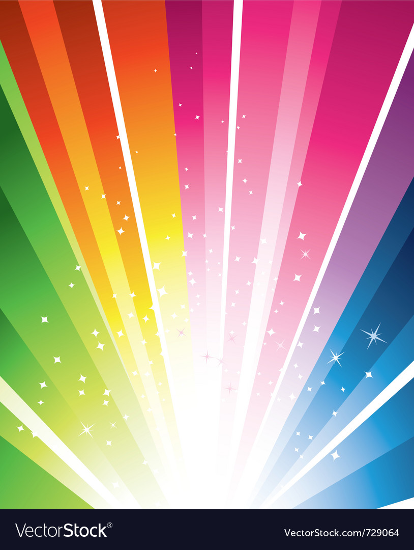 Rainbow burst vector
