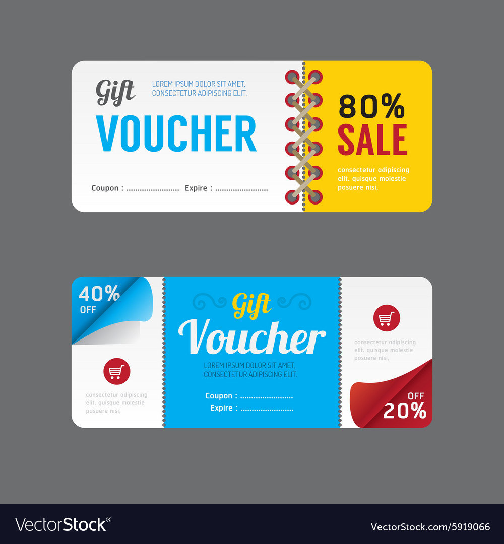 Gift voucher coupon template design paper label vector by pongsuwan image 5919066 vectorstock - Made in design code promo ...