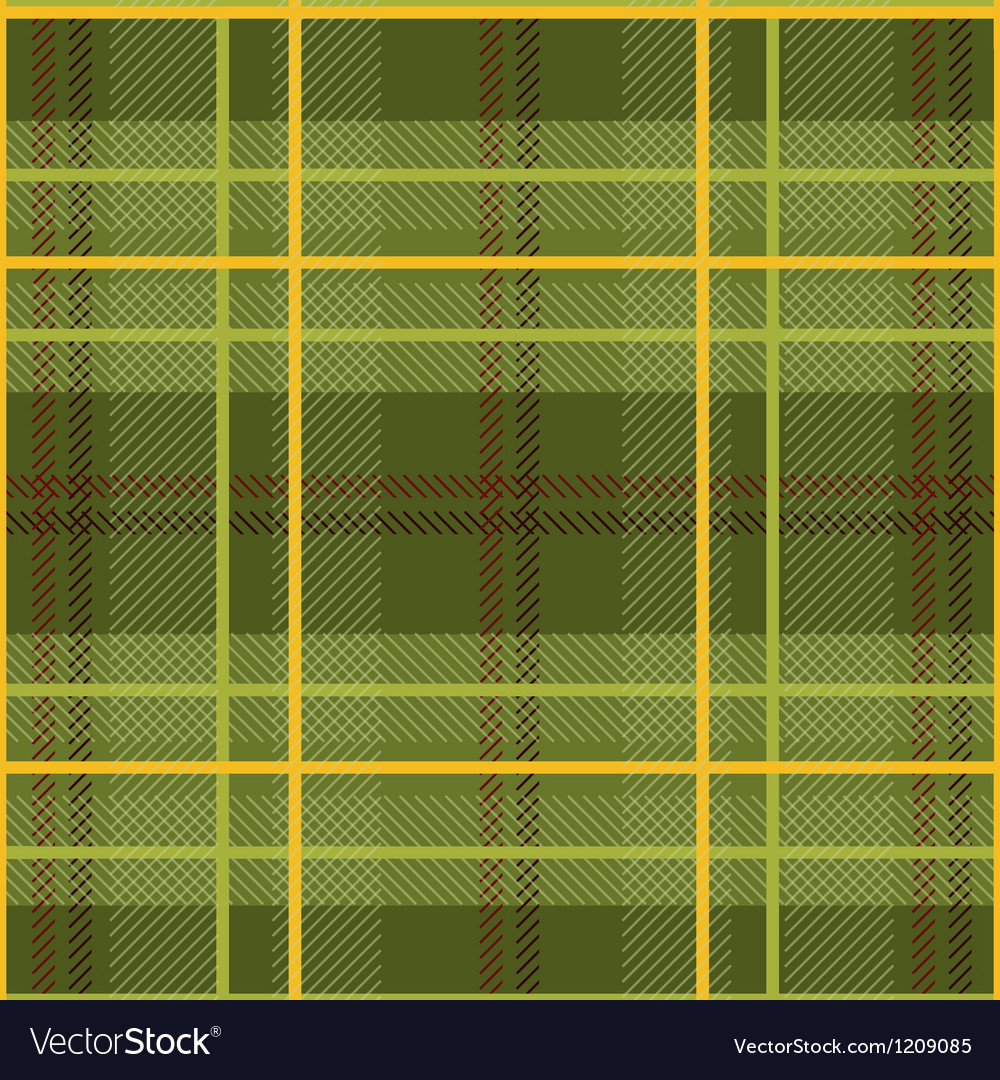 Free green plaid pattern vector