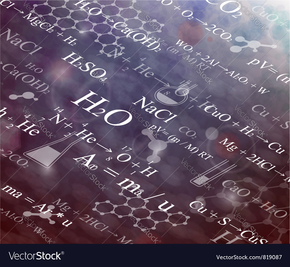 Chemical background vector