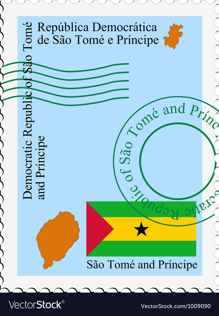 Mail tofrom sao tome and principe vector