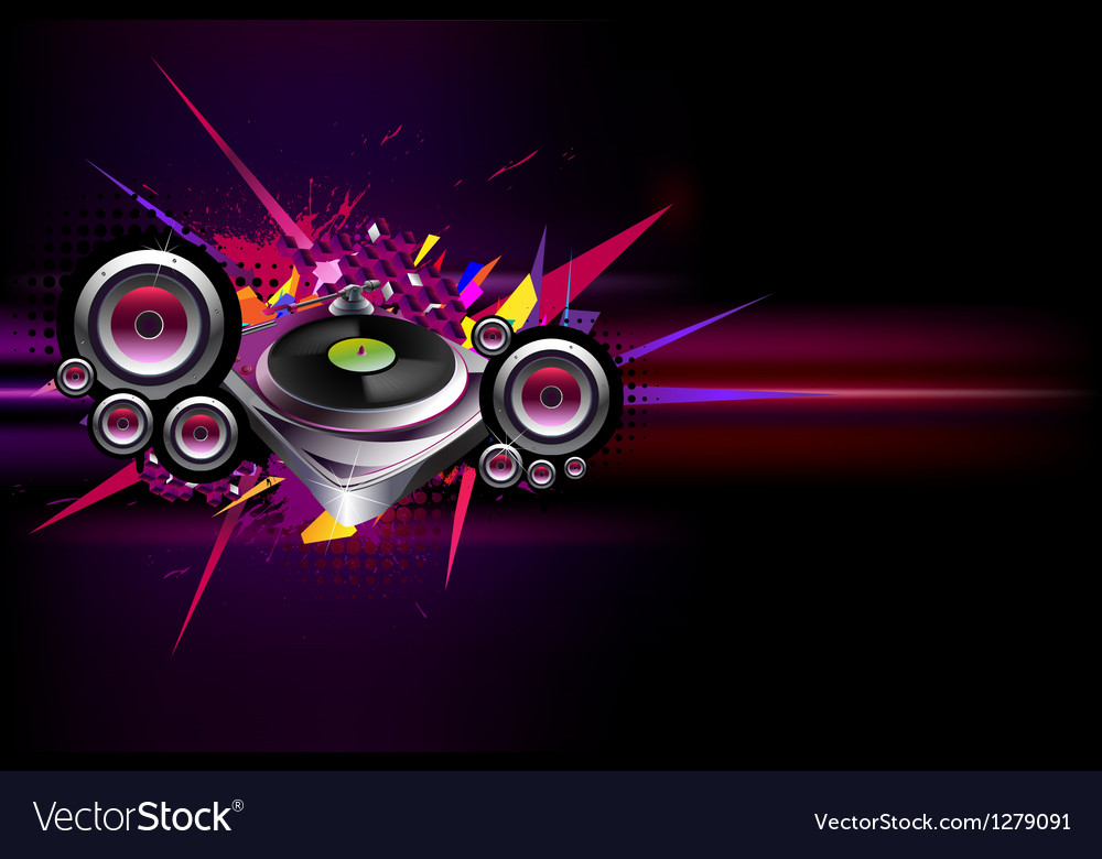 Musical poster vector