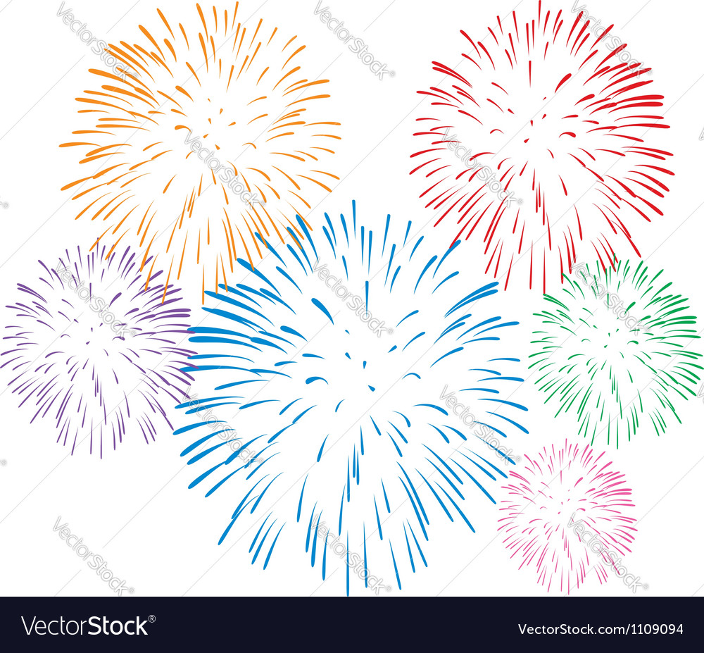 Fireworks vector by onlyforyou image 1109094 vectorstock