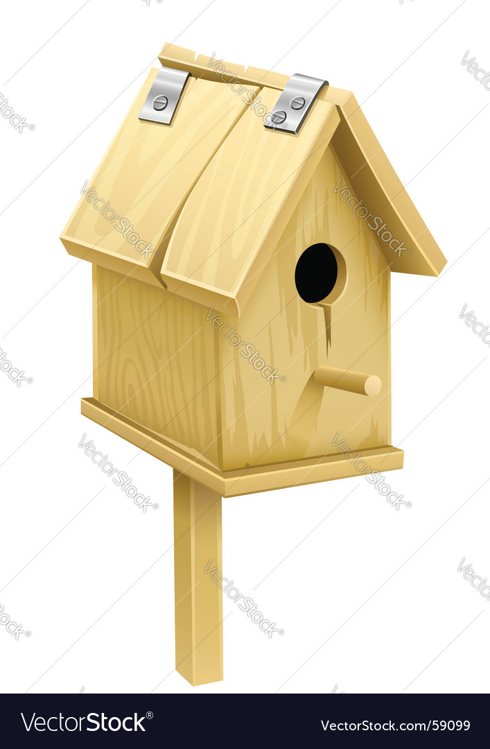 Wooden starling house vector