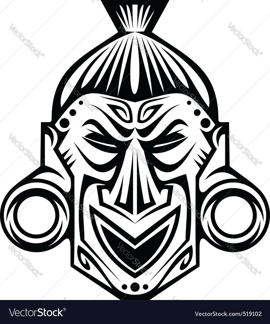 Tribal mask vector by Seamartini - Image #519102 - VectorStock