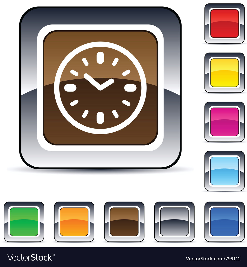 Time square button vector