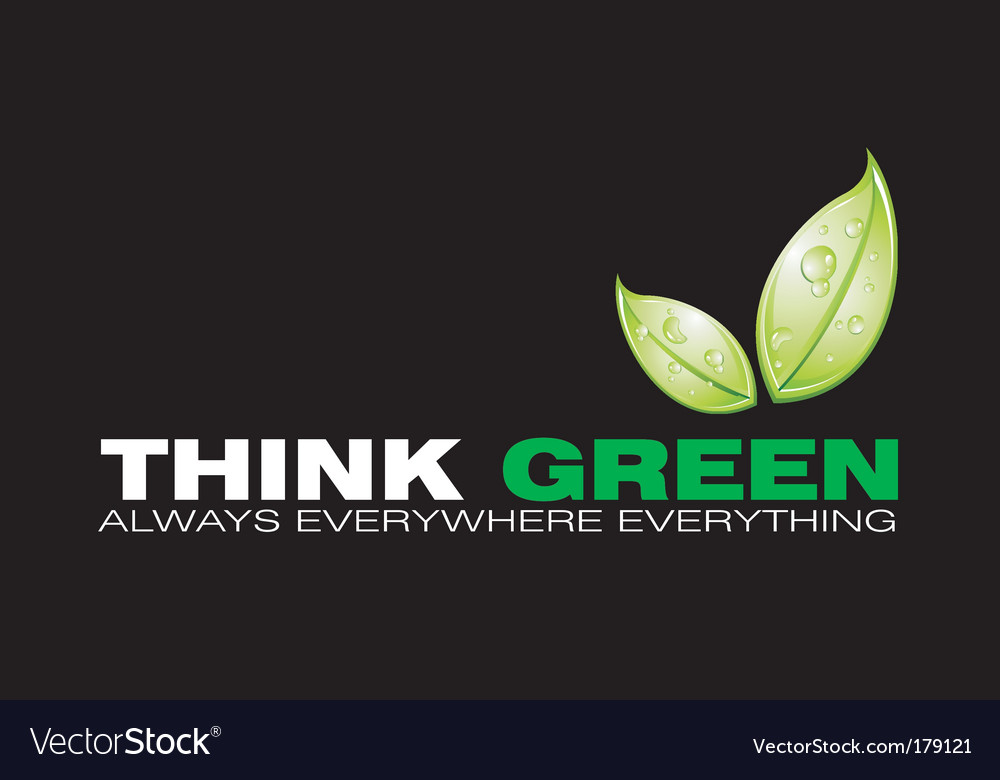 Green logo vector