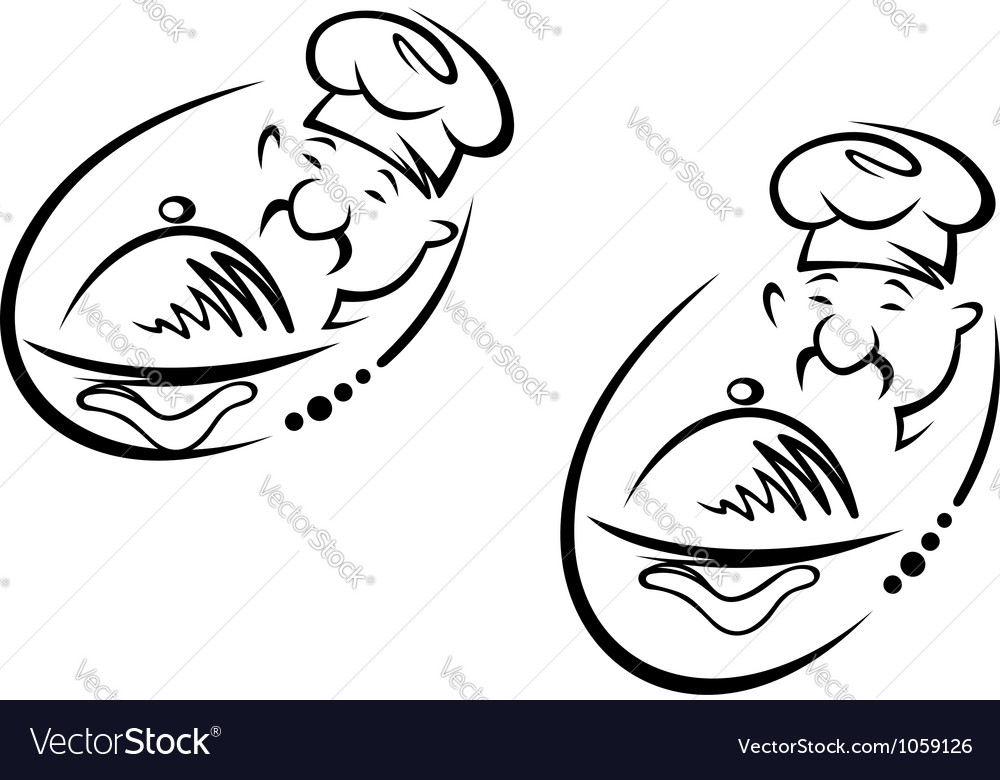 Chinese chef vector