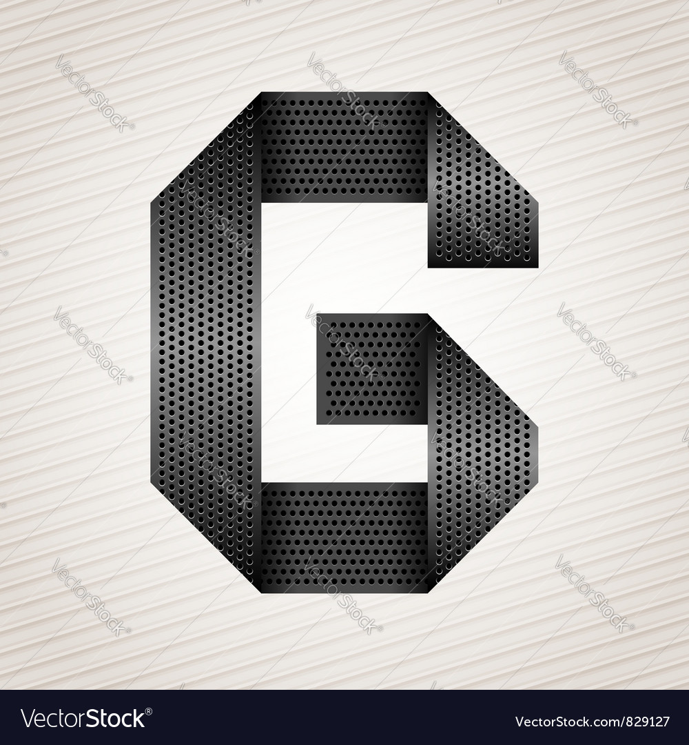 Letter metal ribbon  g vector