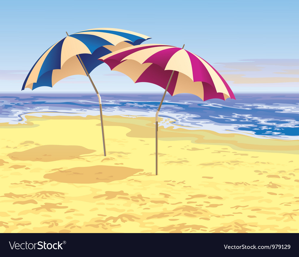 Two umbrellas vector