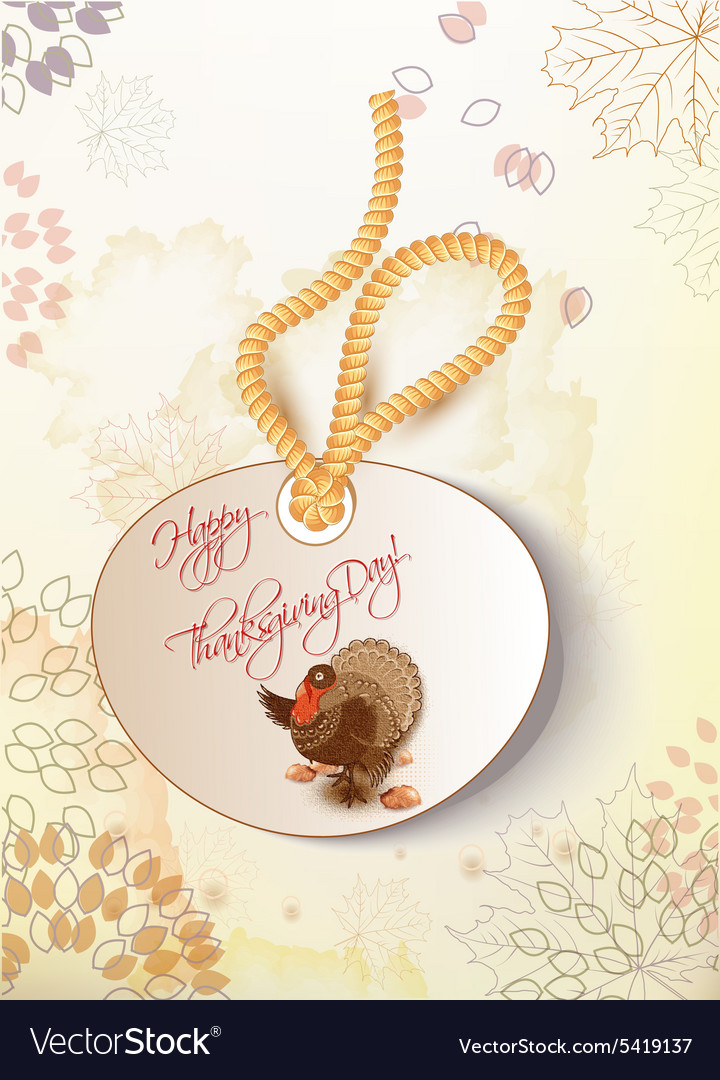 Happy thanksgiving day with turkey