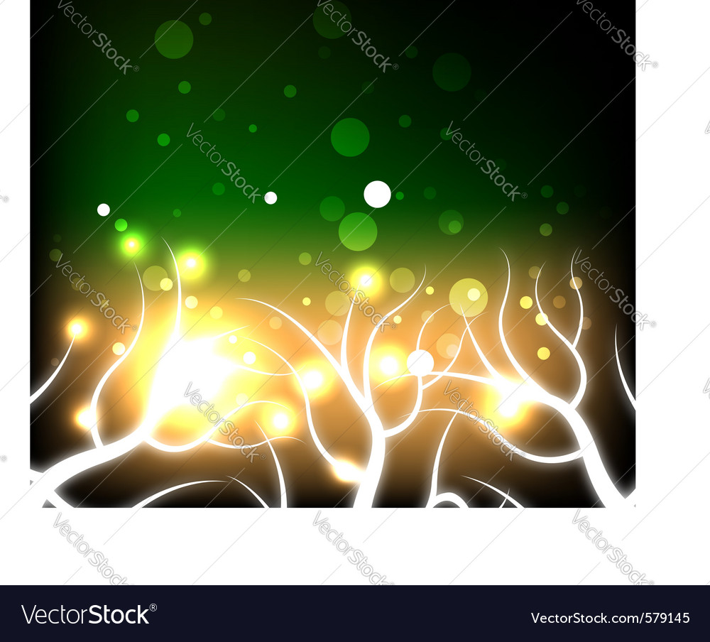 Glowing autumn tree vector