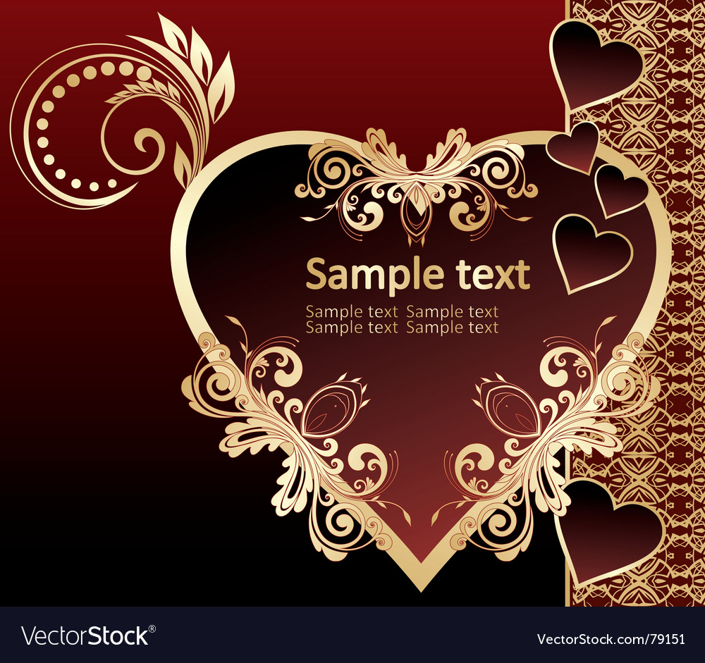 Free golden invitation vector