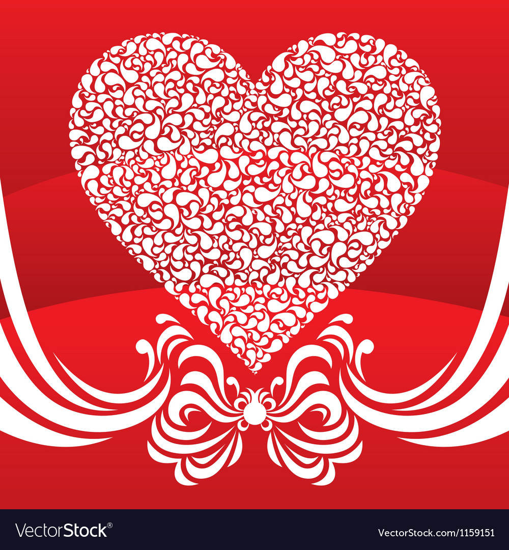 Happy valentine background with decorative drops vector