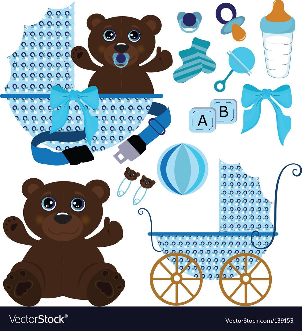 baby boy stuff vector by jaydhed   image 139153   vectorstock