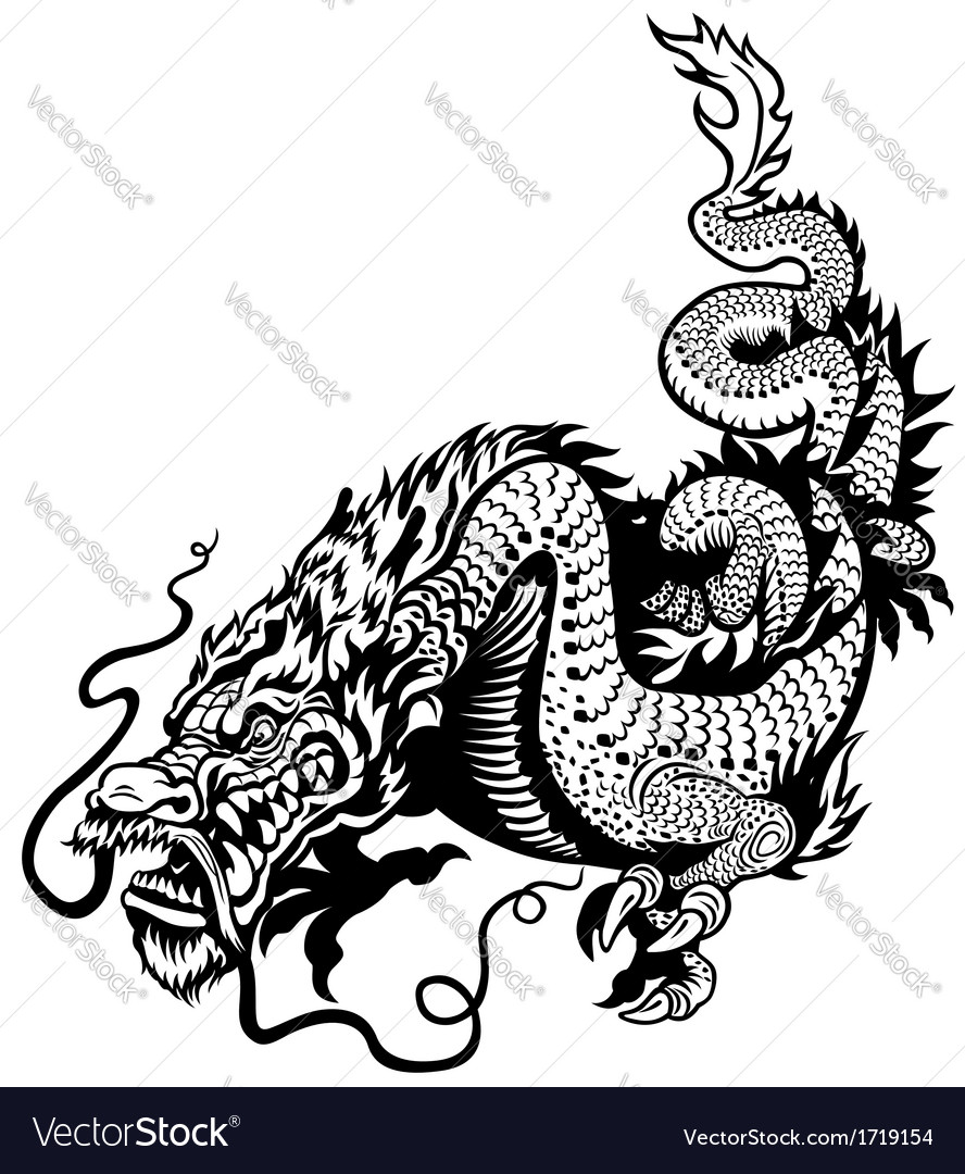 Oriental dragon vector illustration — Stock Vector © Itara #80035926