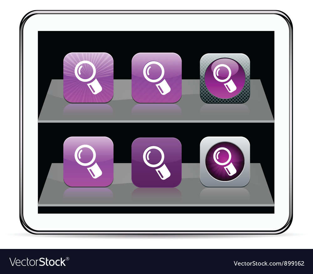 Zoom purple app icons vector