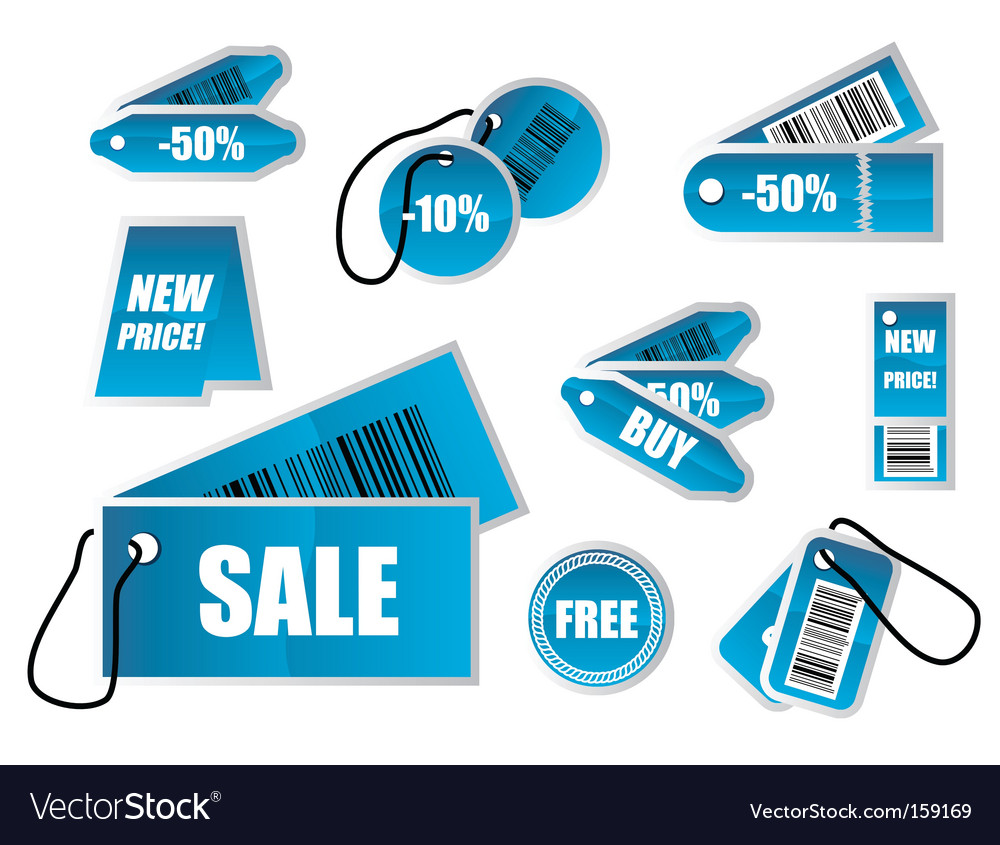 Shopping marks vector