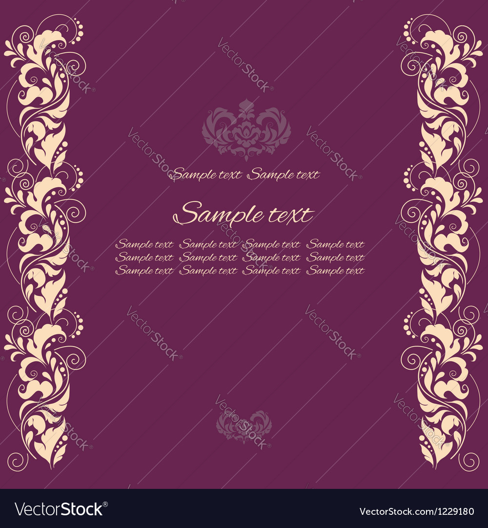 Background with floral ornamental fram vector