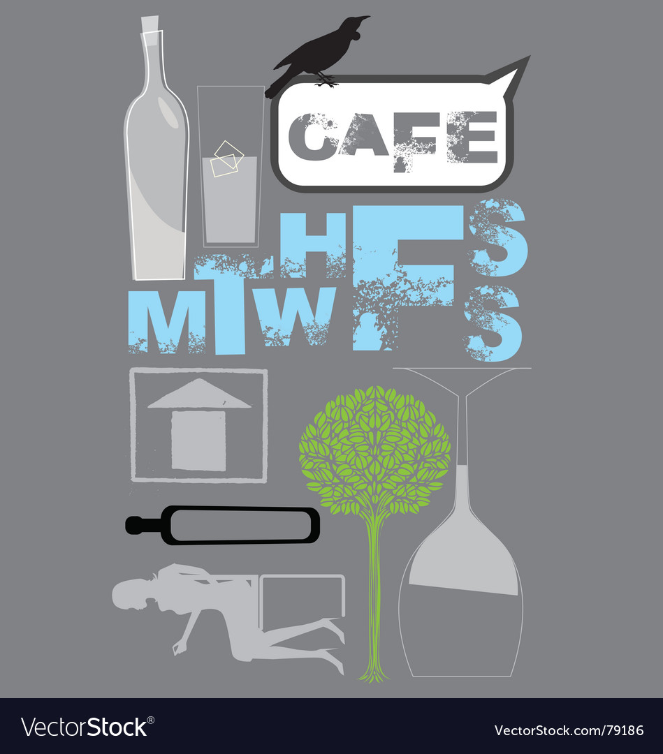 Free cafe design vector