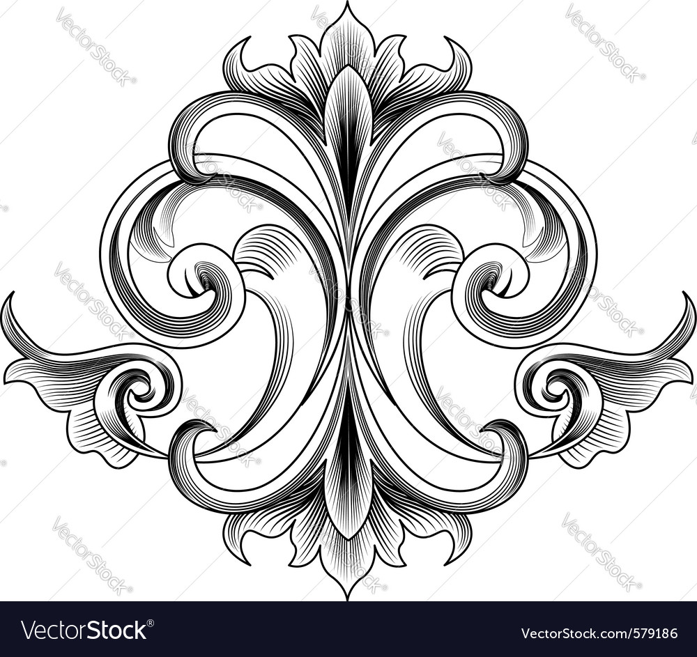 Victorian style decoration vector