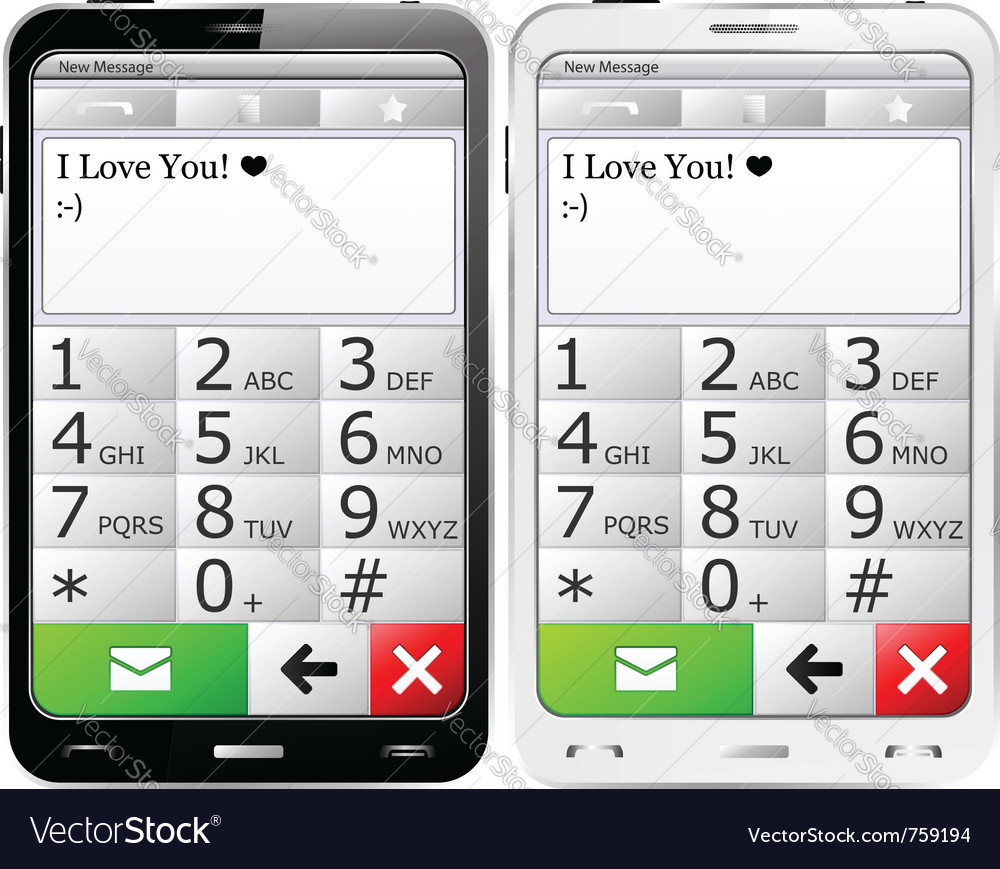 Mobile phones with sms vector