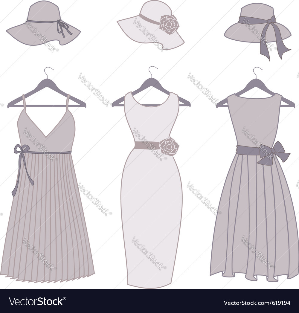 Vintage fashion items vector