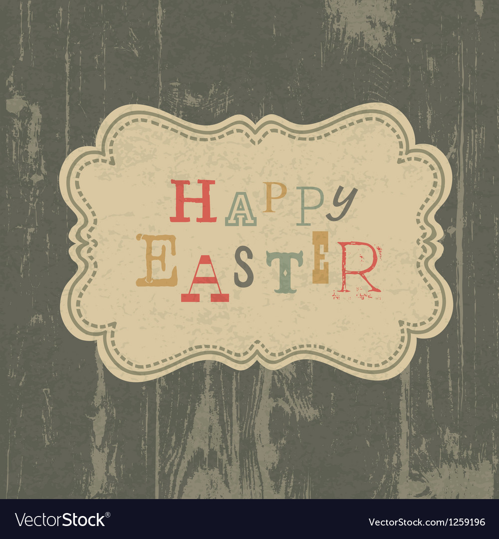 Happy easter vintage background vector