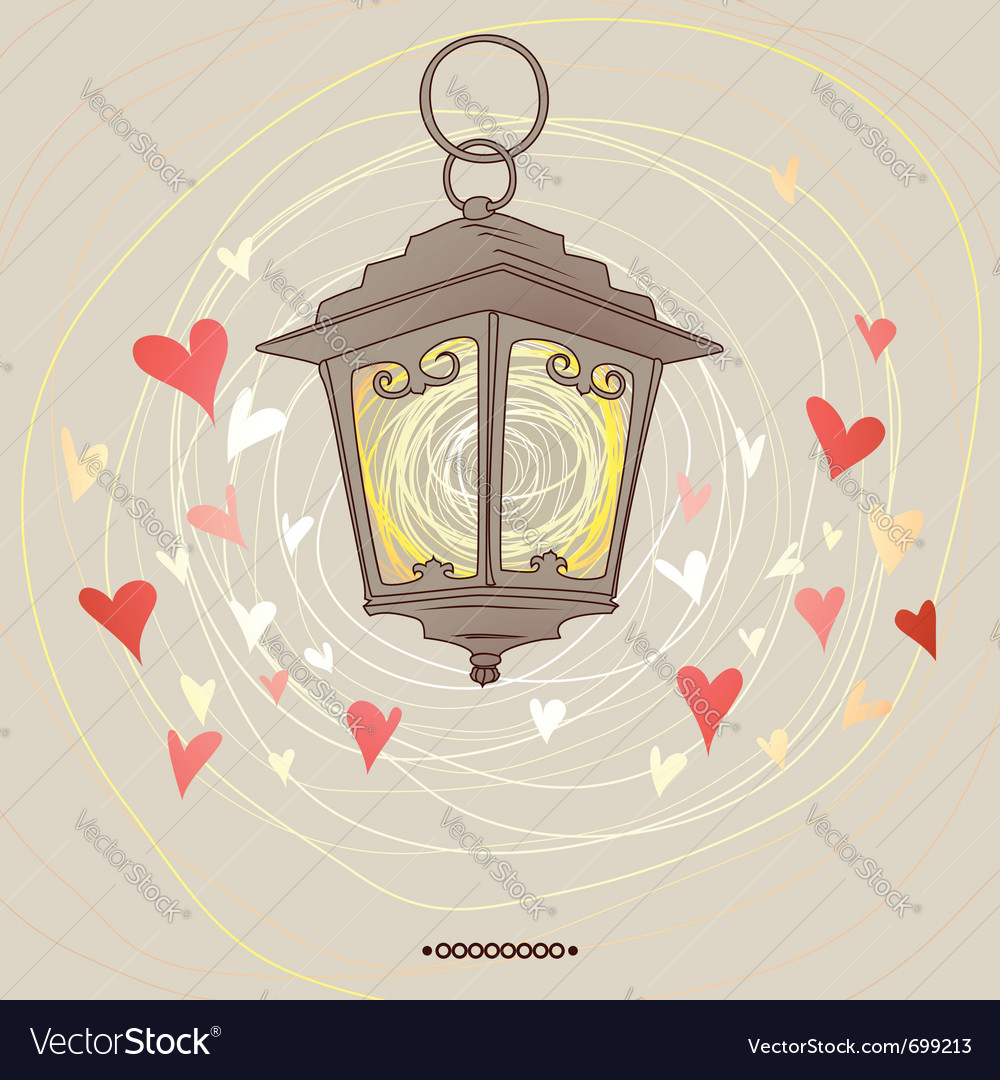 Valentine flashlight vector