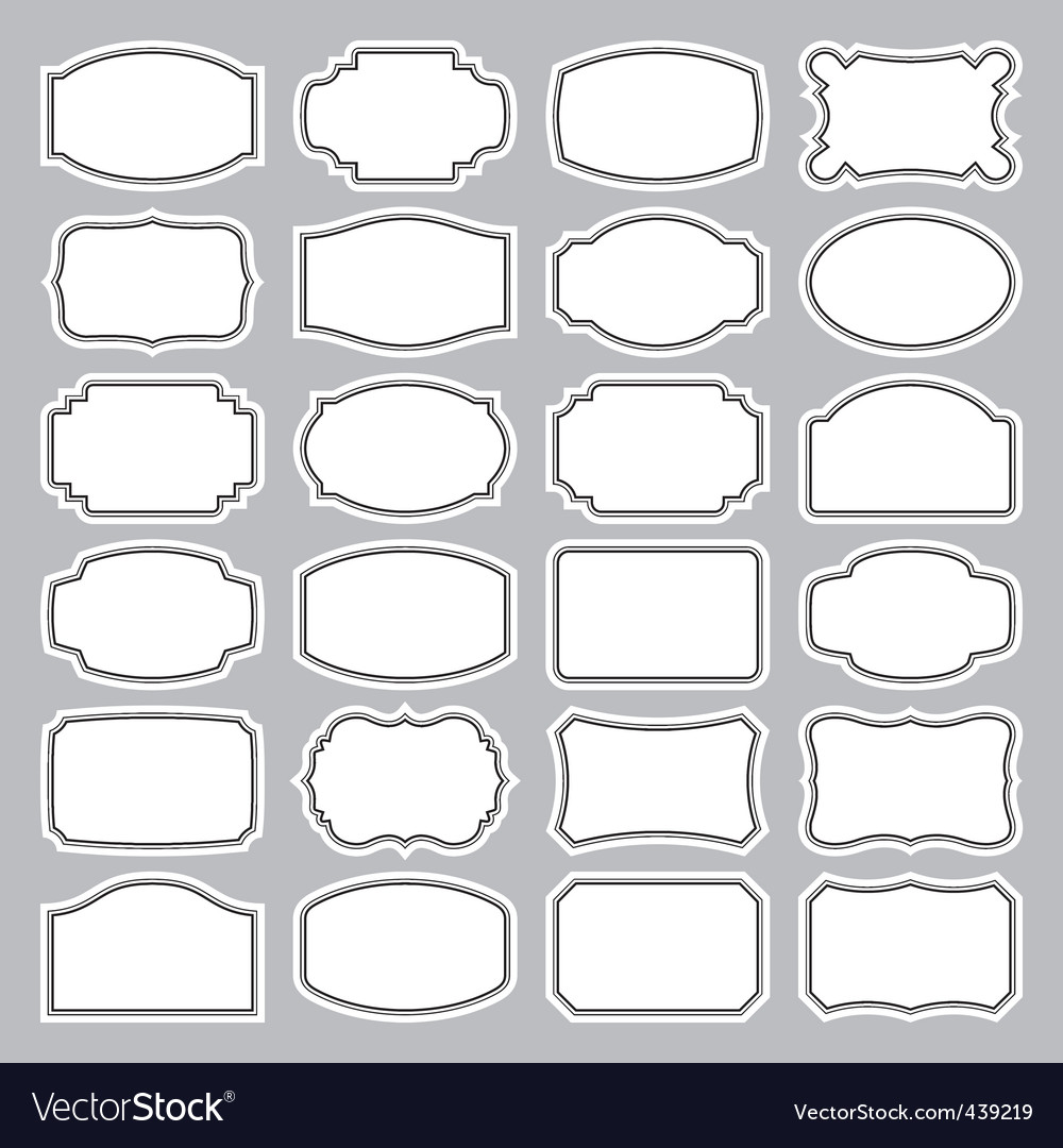 Blank labels set vector