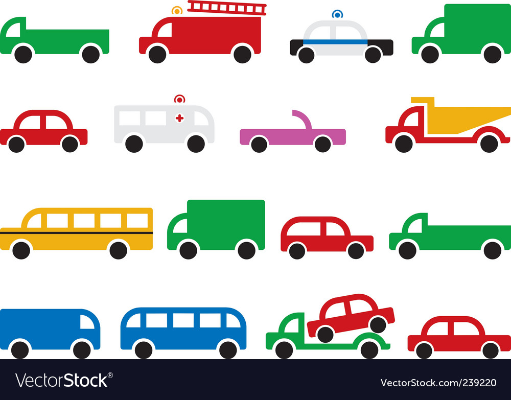 City transport symbols vector