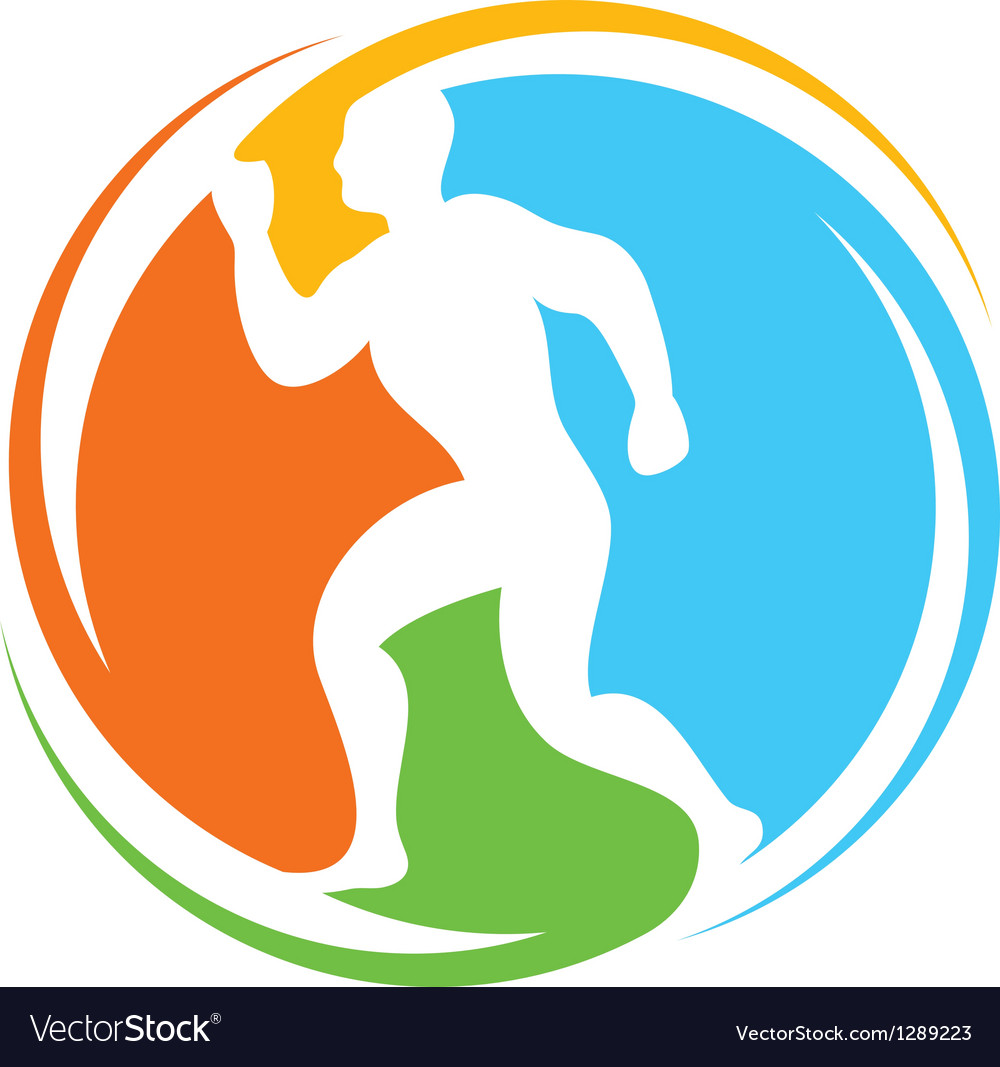 Abstract runner  healthy lifestyle icon vector