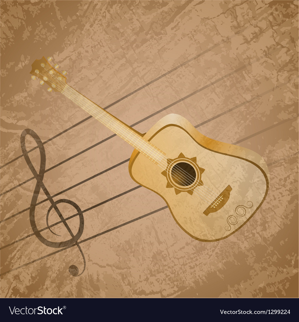 Classic guitar background theme eps10 vector
