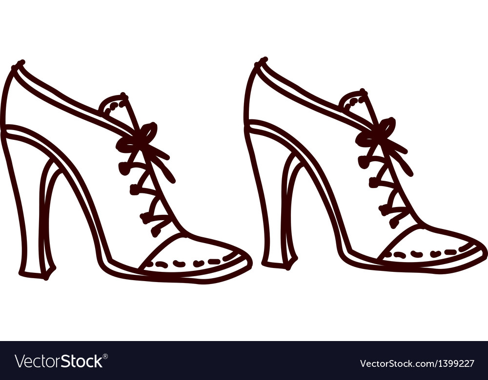 A pair of shoes vector