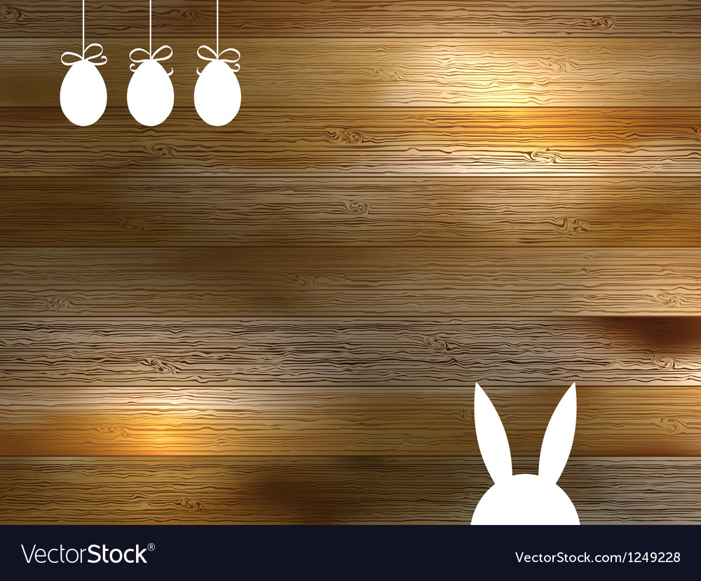 Easter wood background vector