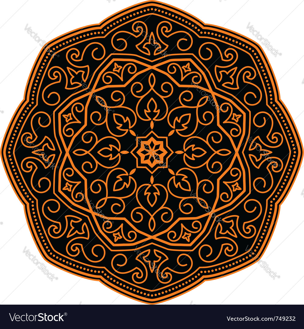 Ornamental circle pattern vector