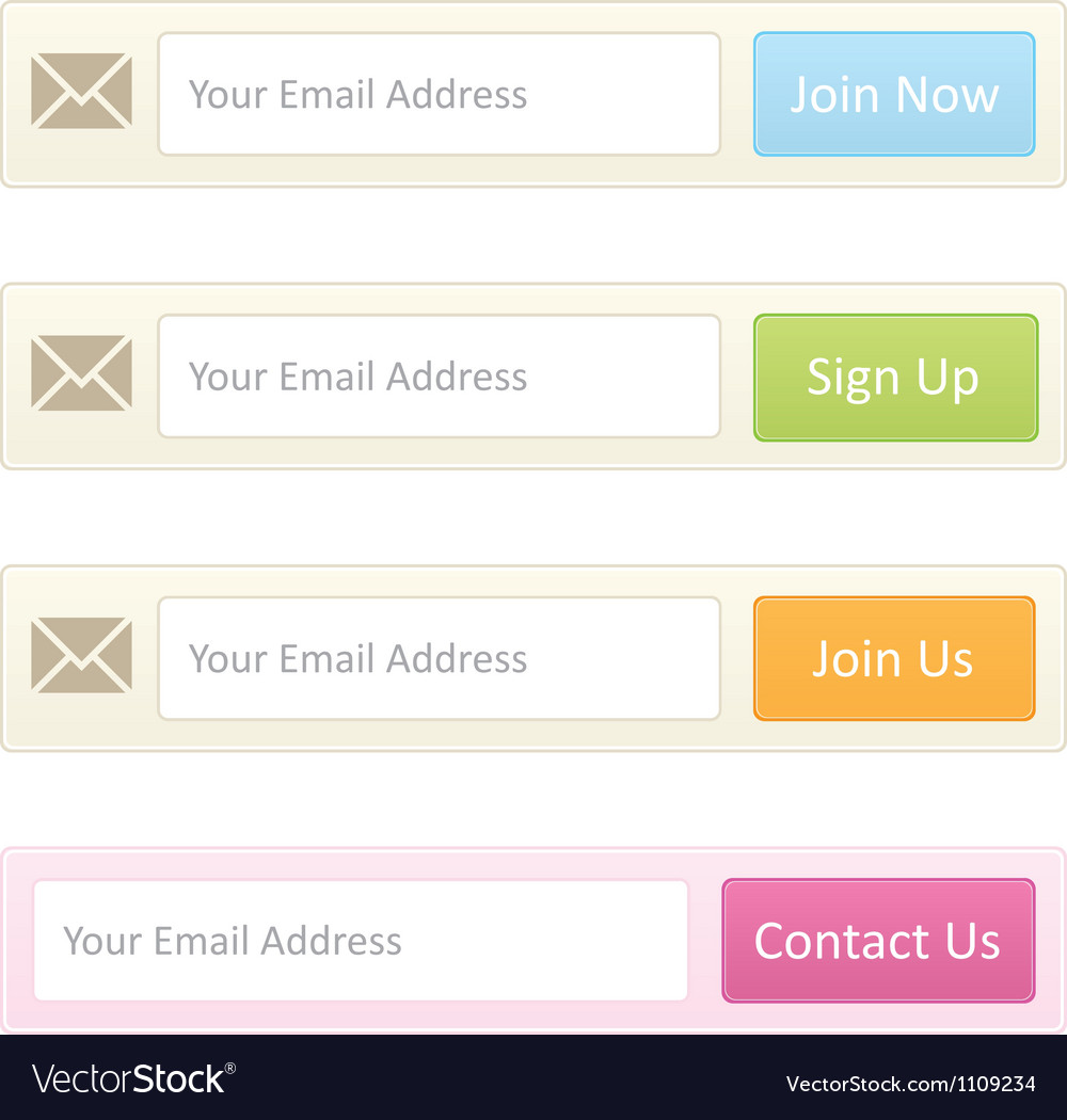 Newsletter sign up vector
