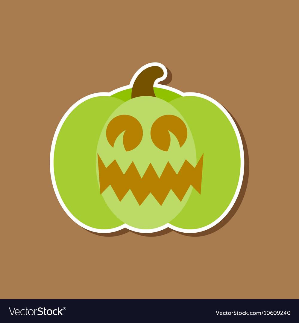 Paper sticker on stylish background halloween
