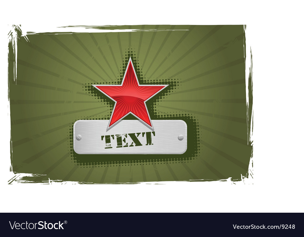 Red and green star frame vector
